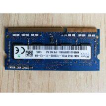 Hynix 4 GB PC3-12800 DDR3-1600MHz, CL11 204 tűs SoDimm 1,35 V memória,ram