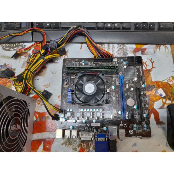 MSI A55M-P33 alaplap,A4-3300 APU 2.5GHz,hűtő,hátlap