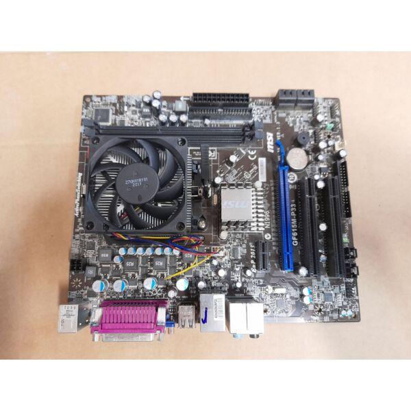 MSI GF615M-P33 Alaplap + AMD X3 455 3.3GHz CPU + Hűtő,hátlap