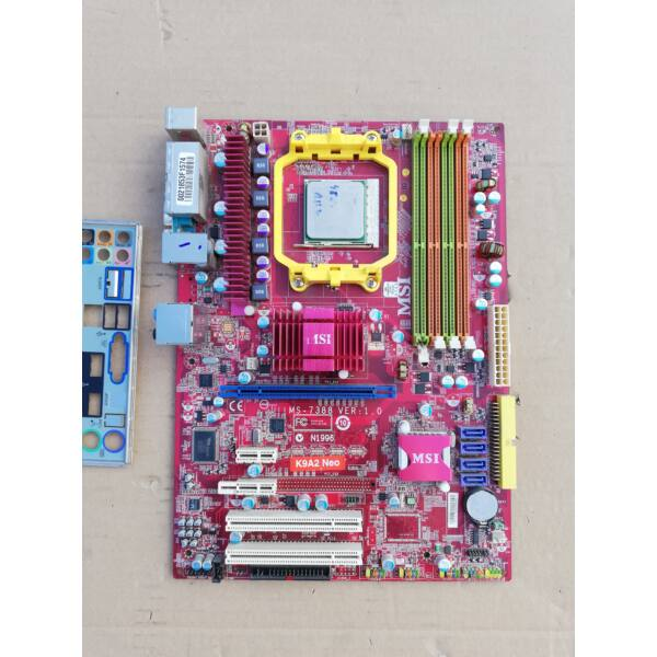 MSI K9A2 CF MS-7388 Ver 1.0 alaplap,cpu, hátlap