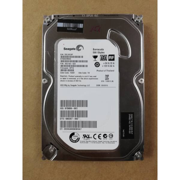 "Seagate BarraCuda 3.5"" 500GB 7200rpm 16MB SATA3 (ST500DM002) HDD"