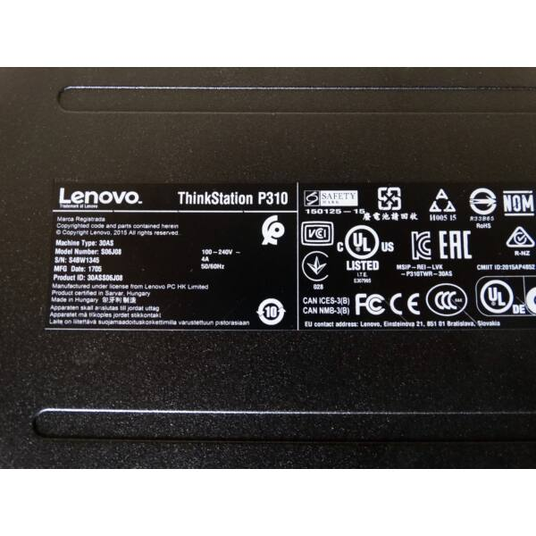 LENOVO THINKSTATION P310 ,E3-1220 v5, 8GB DDR4,500GB HDD,4GB VGA, Win10