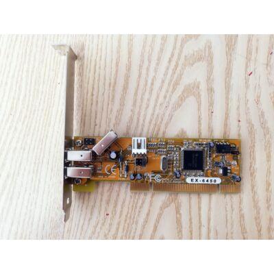 EX-6450 - Interfészkártya 3x FireWire PCI, Exsys