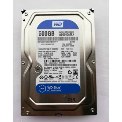 Western Digital Caviar Blue 500GB 32MB 7200rpm SATA3 (WD5000AZLX) HDD, MEREVLEMEZ