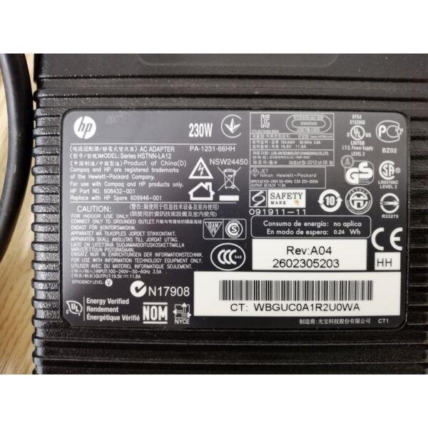 HP HSTNN-LA12 19.5V 11.8A 230Watt AC adapter
