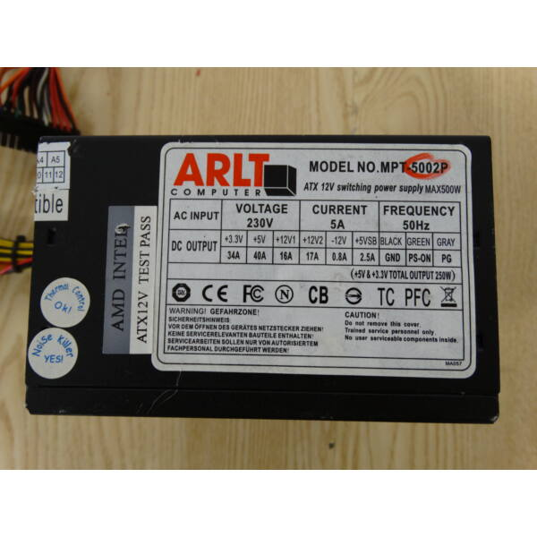 ARLT MPT-5002P 500Watt tápegység