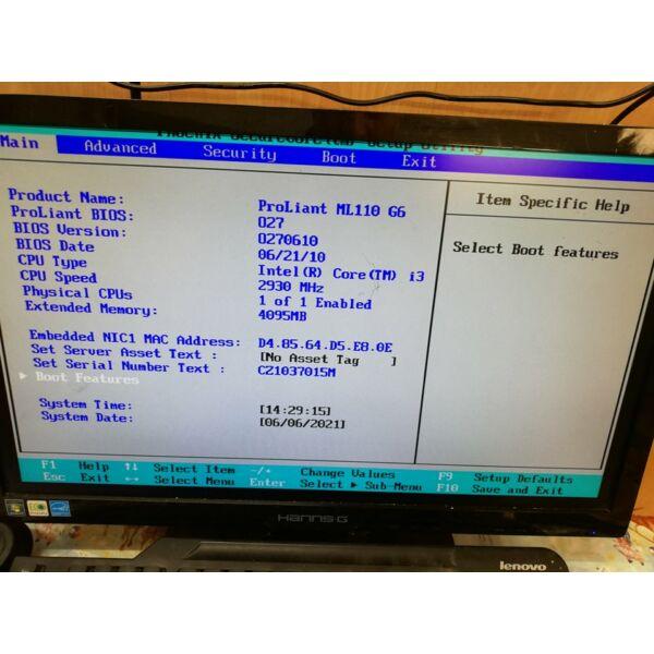 HP ProLiant ML110 G6 i3-530,4GB DDR3