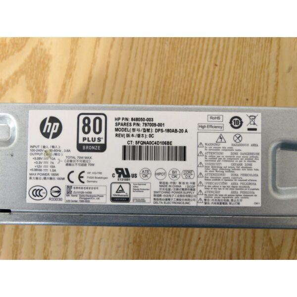 HP DPS-180AB-20 A 180W 80 PLUS BRONZE tápegység