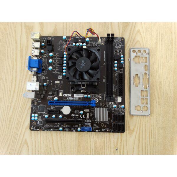 MSI A78M-E35 Alaplap+ A4-4020 CPU,hűtő,hátlap