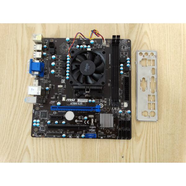 MSI A78M-E35 Alaplap+ A6-5400K CPU,hűtő,hátlap