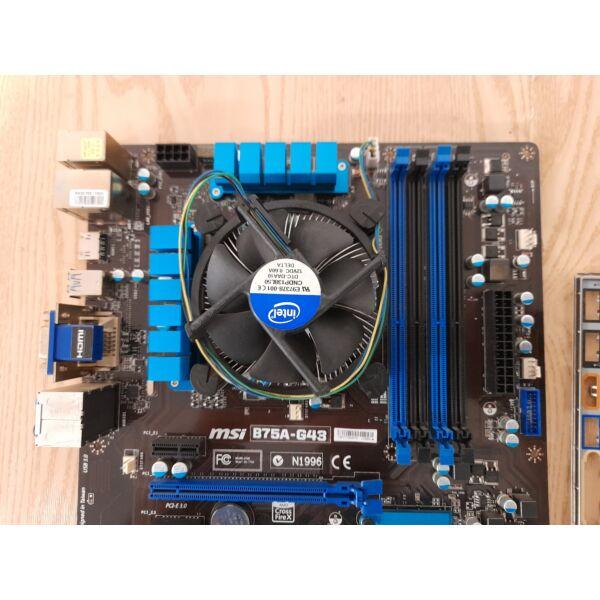 MSI B75A-G43 LGA1155 alaplap+ rézmagos CPU hűtő