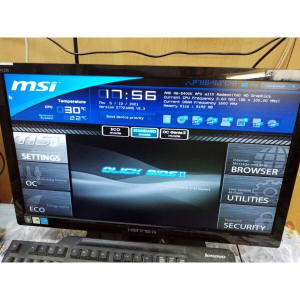 MSI FM2-A75MA-E35 Alaplap+ A6 5400K CPU,hűtő,hátlap