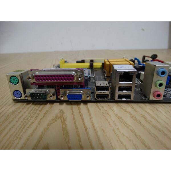 ASUS P5KPL-AM EPU Alaplap + E6700 CPU,hátlap