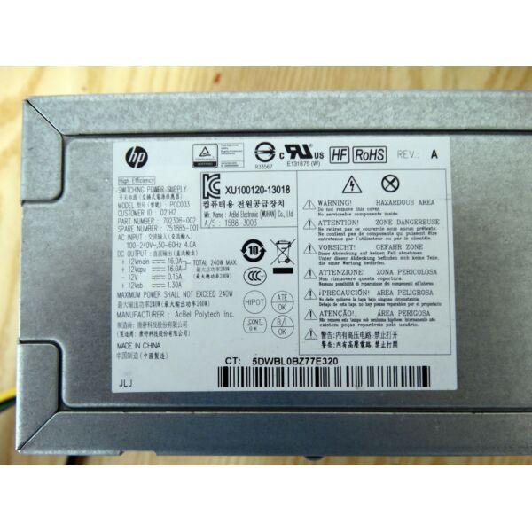 HP ProDesk 600,800 G1 SFF 240W tápegység